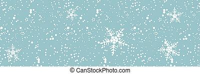 hiver, seamless, tempête neige, conception, fond, ton