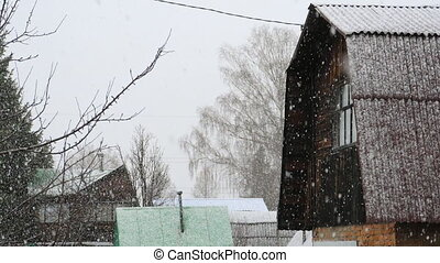 hiver, tempête neige, neige