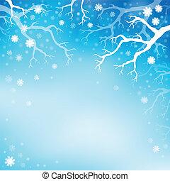 hiver, thème, fond, 3