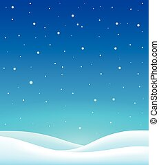 hiver, thème, fond, 6