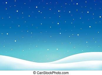 hiver, thème, fond, 7