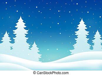 hiver, thème, fond, 8