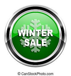 hiver, vente, icône