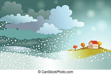 hiver, vient