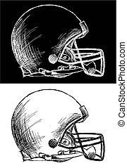 hjälm, fotboll