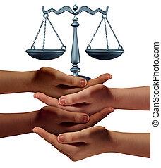 hjälp, gemenskap, laglig