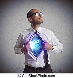 hjälte, av, cyberspace