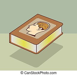 hjärna, bok