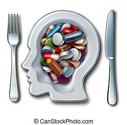 hjärna, förgiftar
