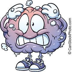 hjärna, frysa