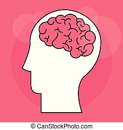 hjärna, huvud, själ, mänsklig, intelligens