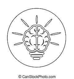 hjärna, ikon