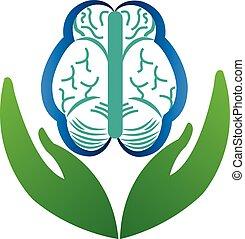 hjärna, logo