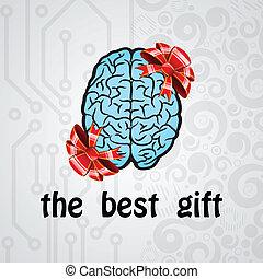 hjärna, mänsklig, gåva