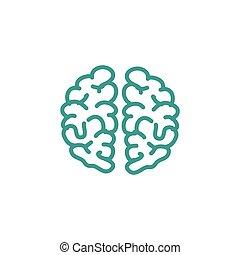 hjärna, mänsklig, ikon