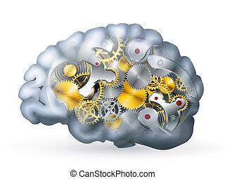 hjärna, mekanisk