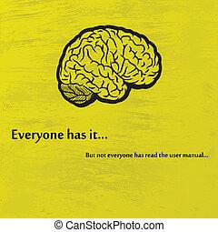 hjärna, svart