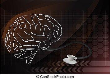 hjärna, vektor