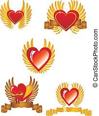 hjärta, #, 2, sätta