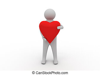 hjärta, 3, man