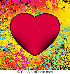 hjärta, 8, grunge, eps, bakgrund.