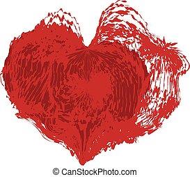 hjärta, abstrakt