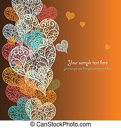 hjärta, abstrakt, vektor