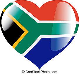 hjärta, afrika, syd