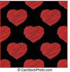 hjärta, avbild, valentinkort, kärlek