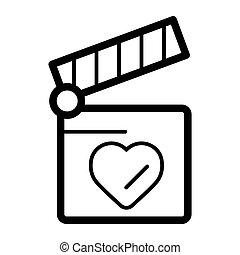 hjärta, begrepp, kärlek, kläpp, symbol., bord, design.