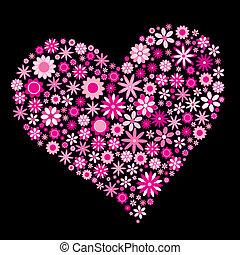 hjärta, blomma