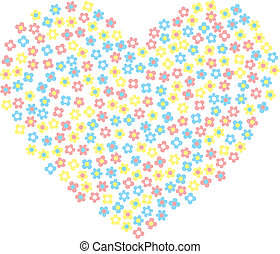 hjärta, blomningen, lycklig