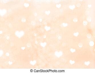 hjärta, bokeh, bakgrund