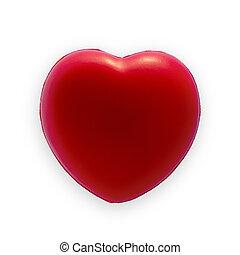 hjärta, dag, röd, valentinbrev