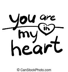 hjärta, dig, min