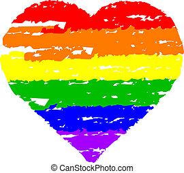 hjärta, färgrik
