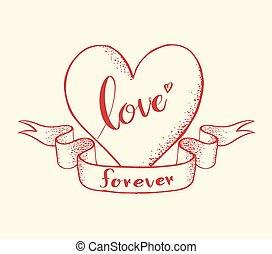 hjärta, för alltid, kärlek, textning
