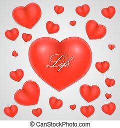 hjärta, fond