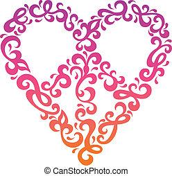 hjärta, fred