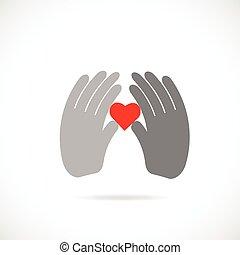 hjärta, gårdsbruksenheten räcker