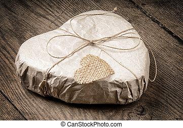 hjärta, gåva, format