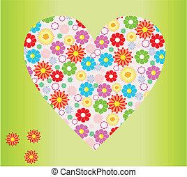 hjärta gestalta, blomma
