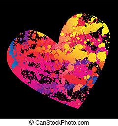 hjärta, grunge
