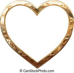 hjärta, guld