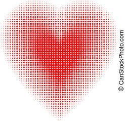 hjärta, halftone