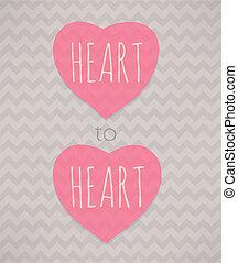 hjärta, heart., poster.