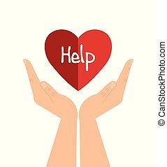 hjärta, hjälp, räcker