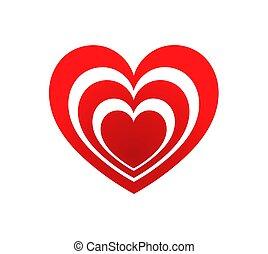 hjärta, icon., röd