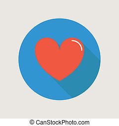 hjärta, ikon, begrepp, kärlek, förhållande, valentinkort...