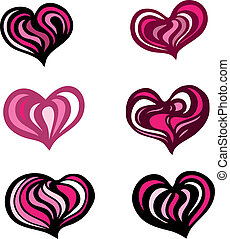 hjärta, illustration.